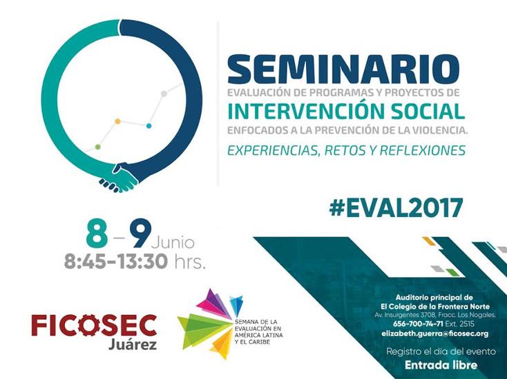 Realizan Seminario de Evaluación de Programas y Proyectos de Intervención Social