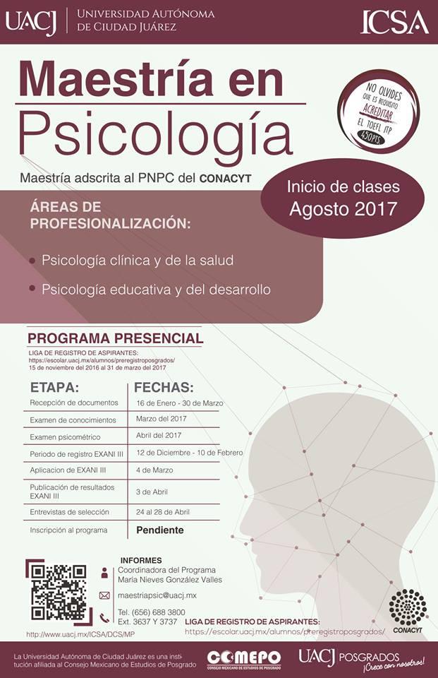 POSGRADOS: Maestría en Psicología