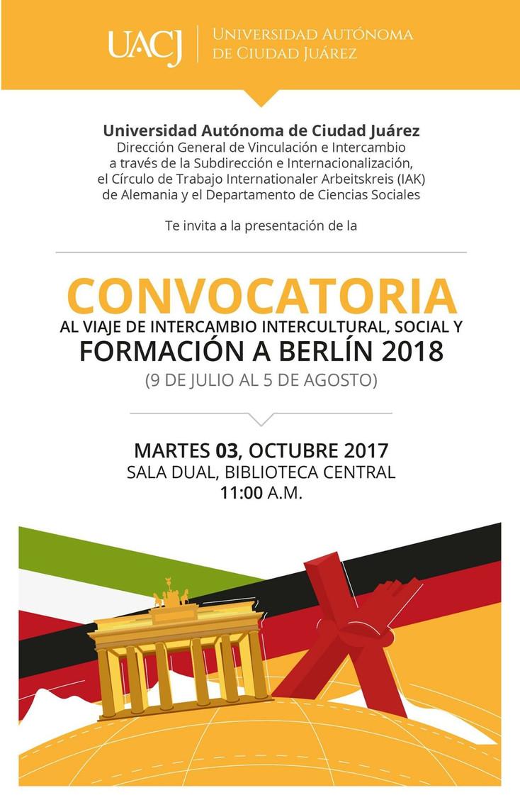 Viaje de intercambio intercultural, social y de Formación Berlín, 2018