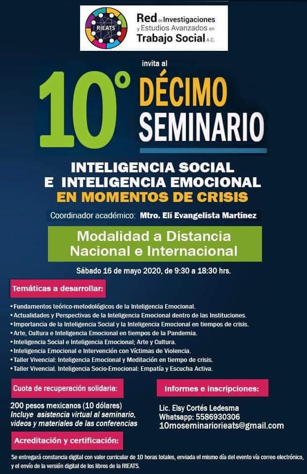"Seminario Nacional ""Inteligencia Social e Inteligencia Emocional en tiempos de crisis"""