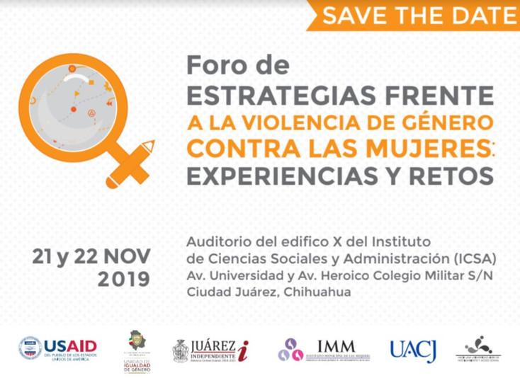 Anuncian Foro sobre violencia de género contra las mujeres