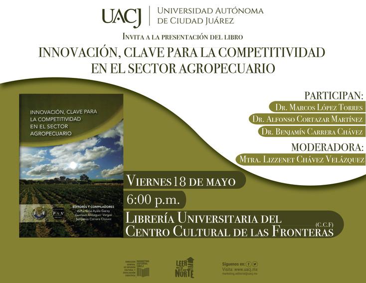 """Invitan a la presentación del libro: """"Innovación, clave para la competitividad en el sector agr"""