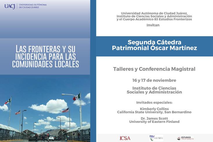 UACJ invita a la Cátedra Patrimonial Óscar Martínez