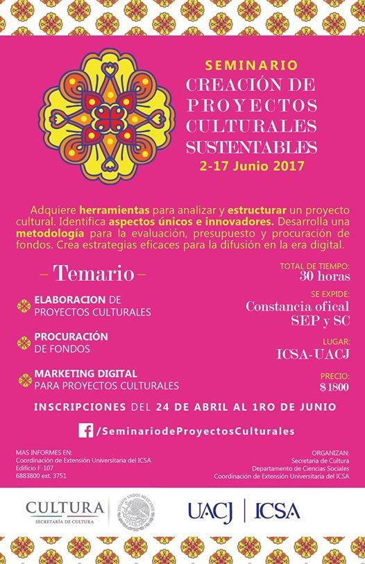 Participa en el Seminario de Creación de Proyectos Culturales Sustentables