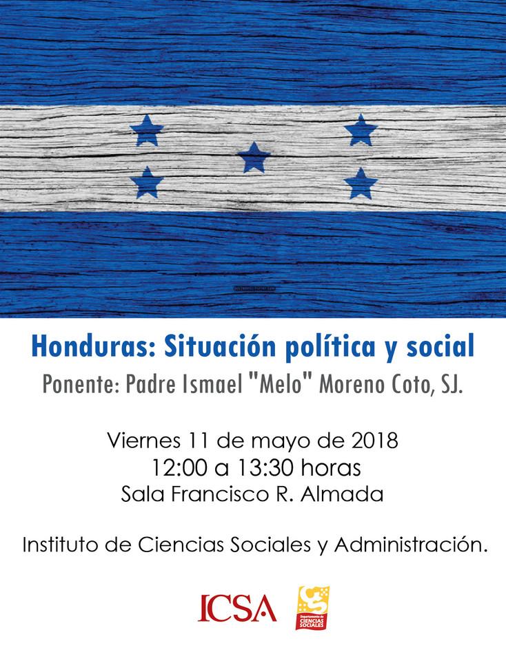 Invitan a charla sobre la situación política y social de Honduras
