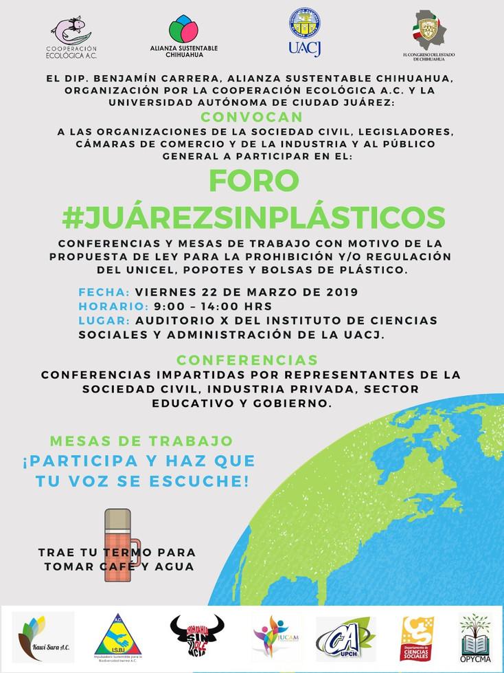 Promueven el Foro #Juárezsinplásticos