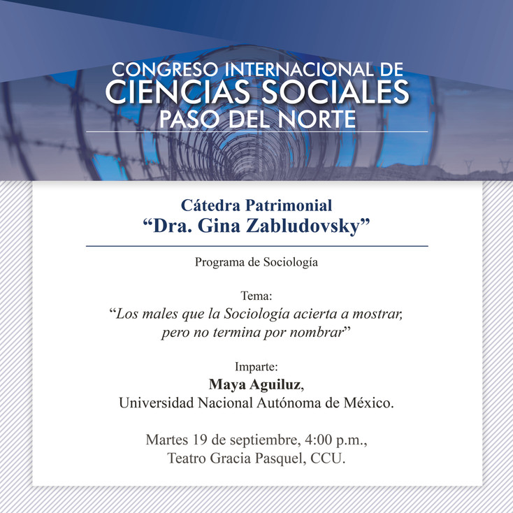 """Sigue en vivo el Congreso Internacional de Ciencias Sociales """"Paso del Norte"""""""