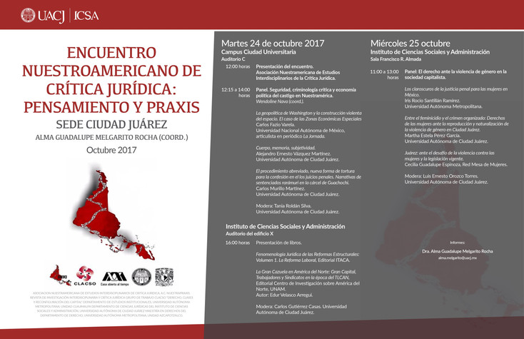 I Encuentro Nuestroamericano de Crítica Jurídica: Pensamiento y Práxis