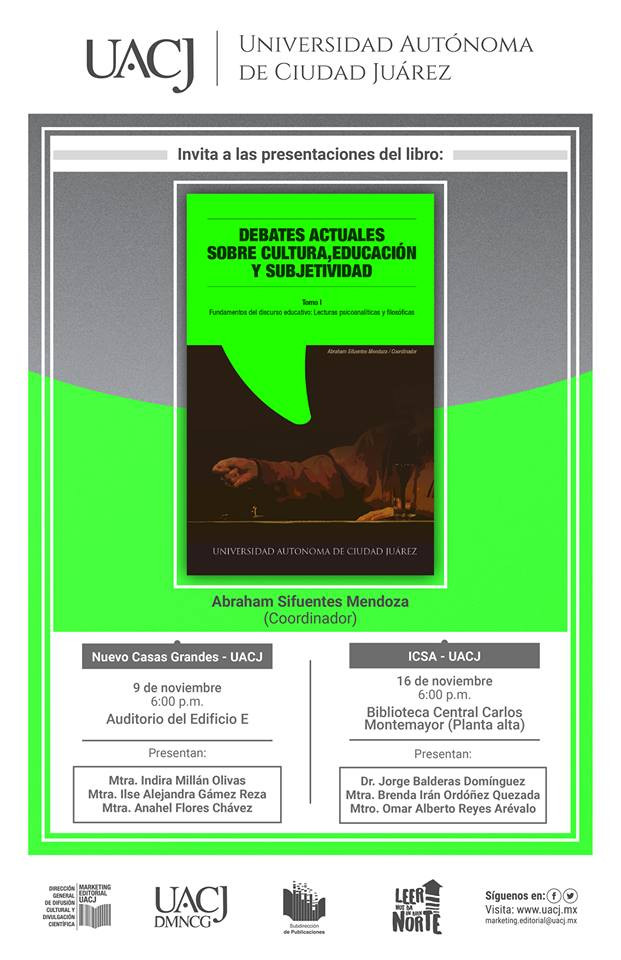"""Presentan el libro """"Fundamentos del discurso educativo: Lecturas psicoanalíticas y filosóficas&"""