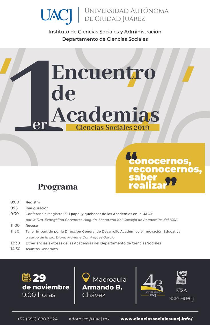 Realizan Primer Encuentro de Academias de Ciencias Sociales