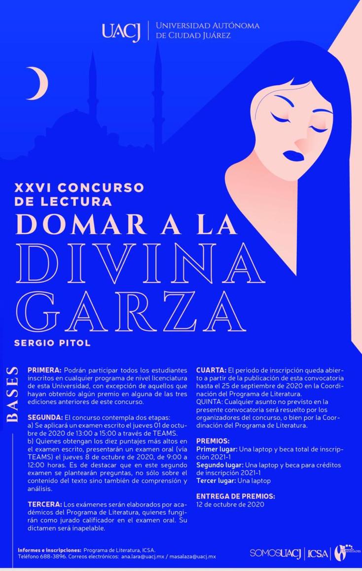 """Últimos días para inscribirse en eI XXVI Concurso de lectura """"Domar a la Divina Garza"""""""