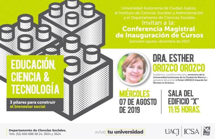 """Inauguran semestre con la conferencia: """"Educación, Ciencia y Tecnología. 3 pilares para constru"""