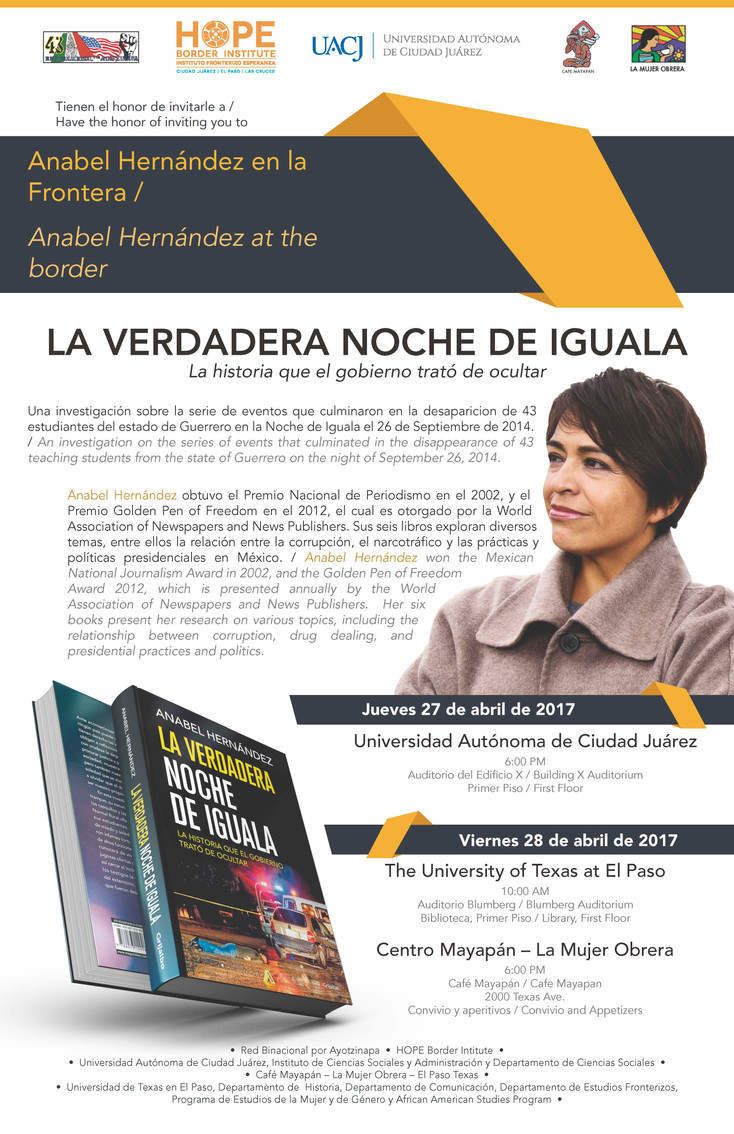 """Anabel Hernández en la frontera: """"La verdadera noche de Iguala"""""""