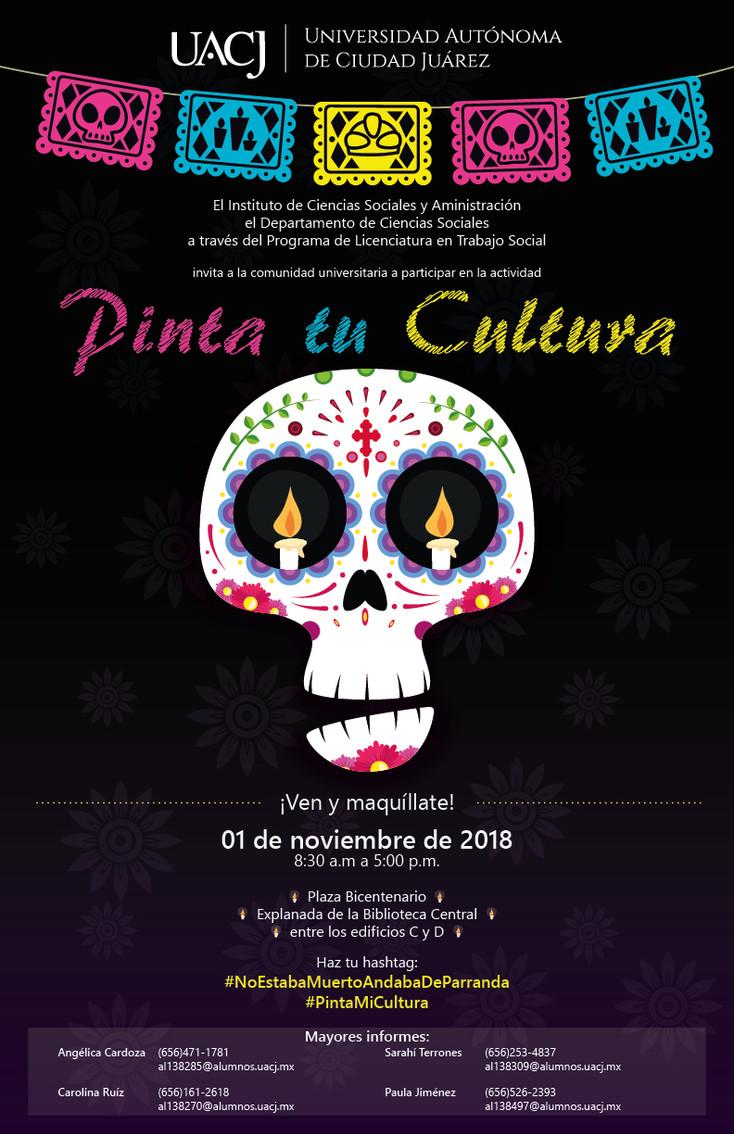 """Celebra el programa de Trabajo Social el Día de Muertos con """"PINTA TU Cultura"""""""