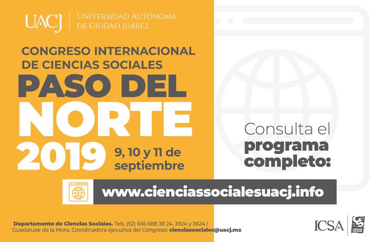 """Listo el programa del Congreso Internacional de Ciencias Sociales """"Paso del Norte"""""""