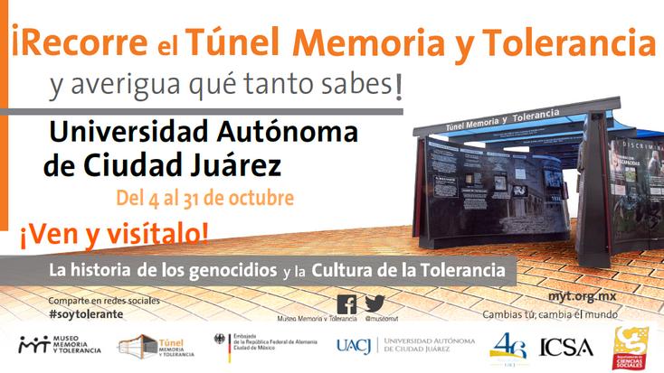 Invitan a la inauguración del Túnel Memoria y Tolerancia en el ICSA
