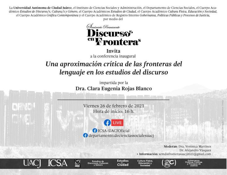 Inicia sesiones el Seminario Permanente Discursos en Fronteras