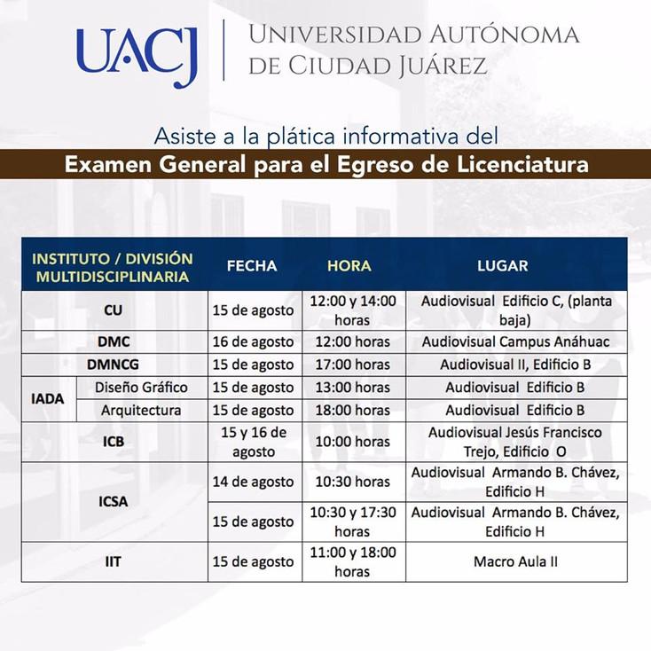 Aplicarán Examen General para el Egreso de Licenciatura