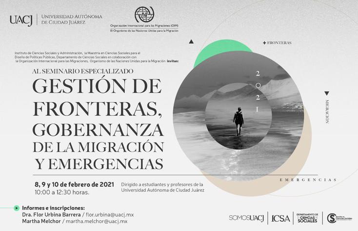 """Realizarán Seminario Especializado """"Gestión de fronteras, gobernanza de la migración y emergencias."""