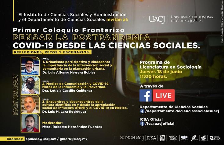 Ultima sesión del Coloquio Fronterizo Pensar la PostPandemia COVID-19 desde las Ciencias Sociales