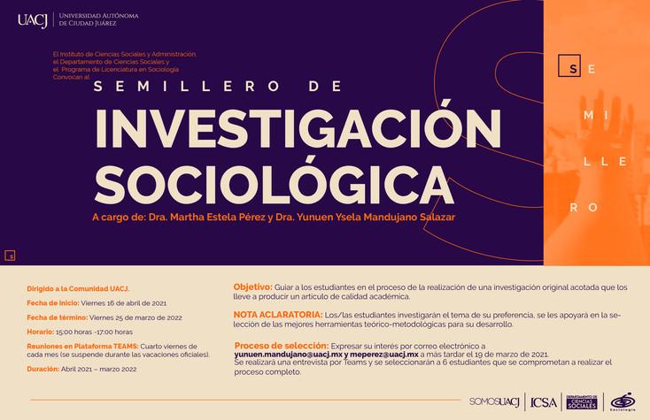 """Convocan a alumnos de la UACJ a participar en el """"Semillero de investigación sociológica"""""""