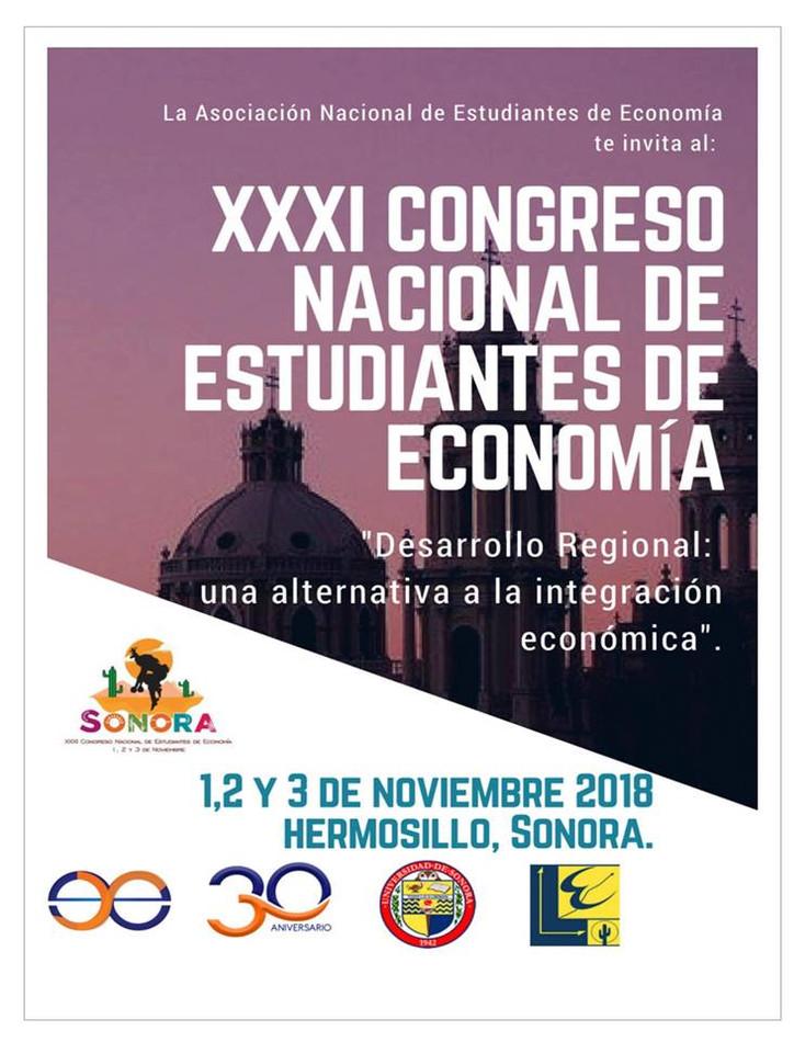 Invitan al XXXI Congreso Nacional de Estudiantes de Economía en Sonora