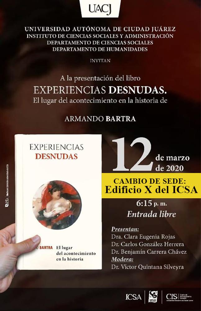 """Presentan libro """"Experiencias desnudas..."""" de Armando Bartra"""