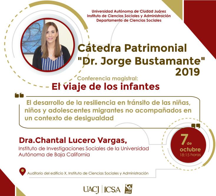 """Anuncian Cátedra Patrimonial """"Dr. Jorge Bustamante"""""""
