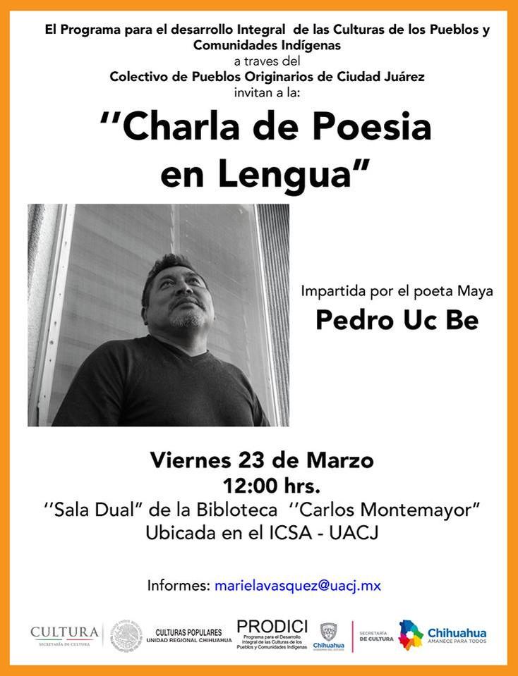 """Invitan a asistir a la """"Charla de poesía en Lengua"""""""