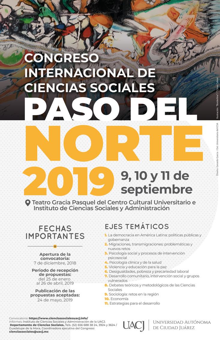 """Anuncian tercera emisión del Congreso Internacional de Ciencias Sociales """"Paso del Norte"""""""