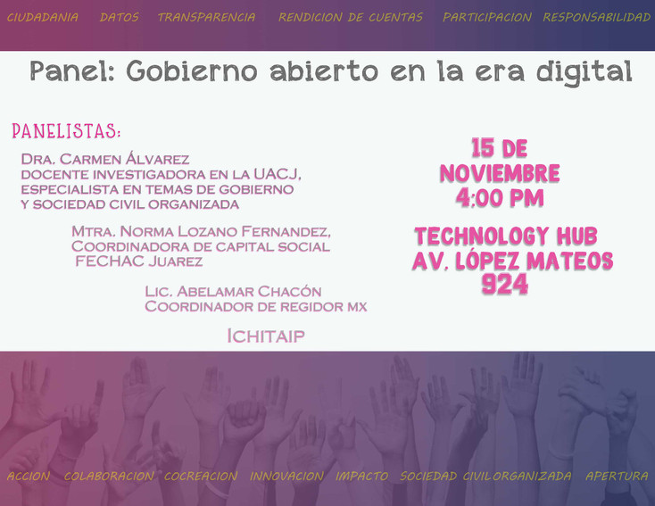 """Invitan a """"Panel de Gobierno Abierto en la era digital"""""""