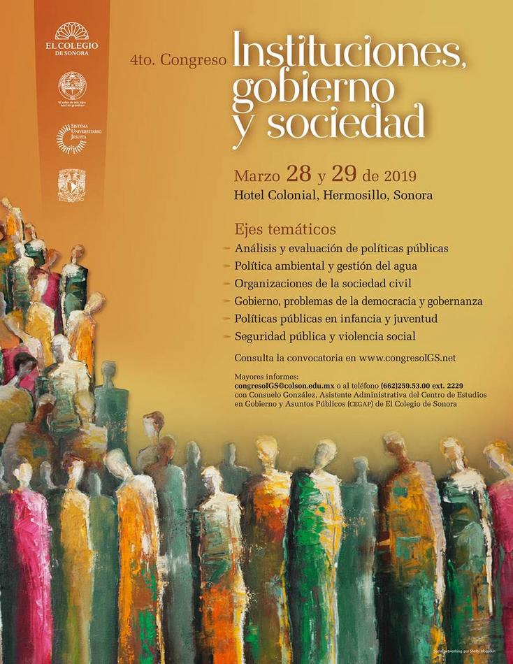 Invitan a participar en el 4to. Congreso Instituciones, gobierno y sociedad 2019