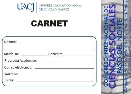 """Validación de Carnets de asistencia al Congreso Internacional de Ciencias Sociales """"Paso del No"""