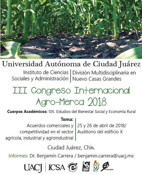 Invitan al III Congreso Internacional Agro-Merca 2018