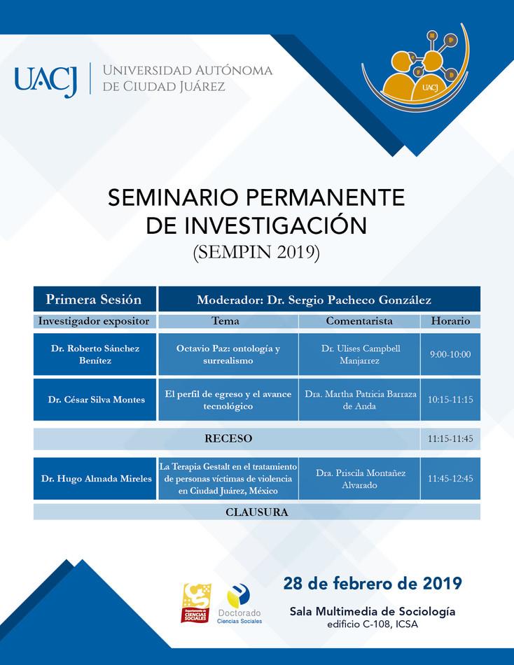 Invitan a la primera sesión del Seminario Permanente de Investigación