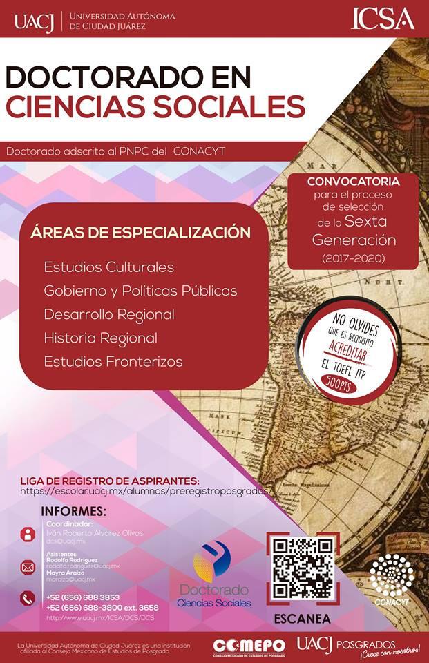 POSGRADOS: Doctorado en Ciencias Sociales