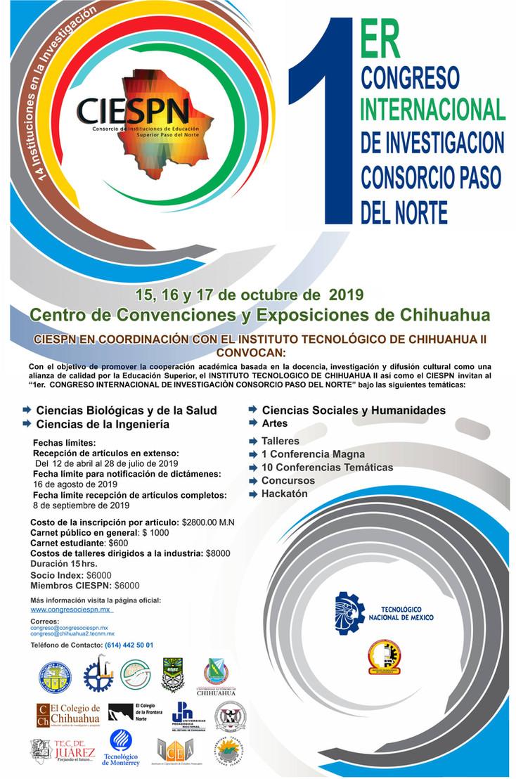 Invitan a participar en el Congreso Internacional de Investigación Consorcio Paso del Norte