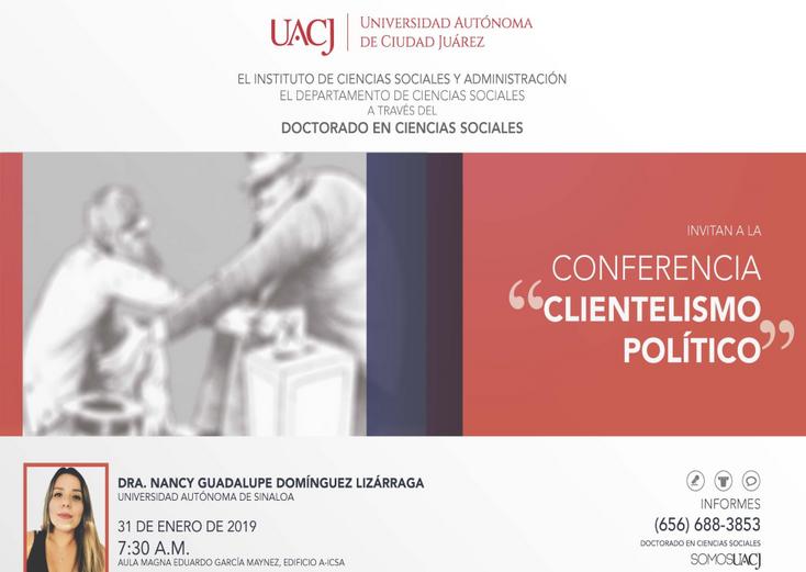 """Ofrecen conferencia sobre """"El nuevo clientelismo político"""""""