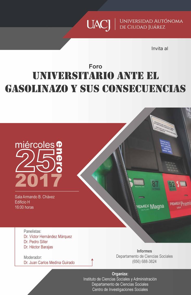"""Invitan a Foro """"Universitario ante el gasolinazo y sus consecuencias"""""""