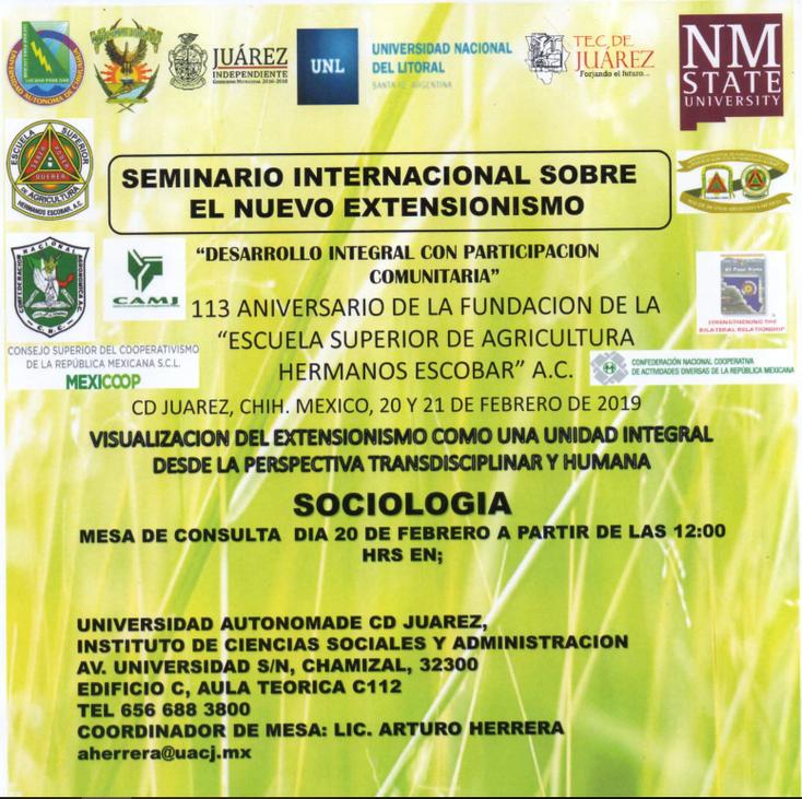 Realizan Seminario Internacional sobre el Nuevo Extensionismo