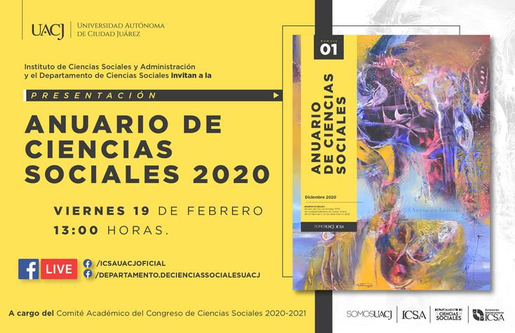 Presentan el Anuario de Ciencias Sociales 2020