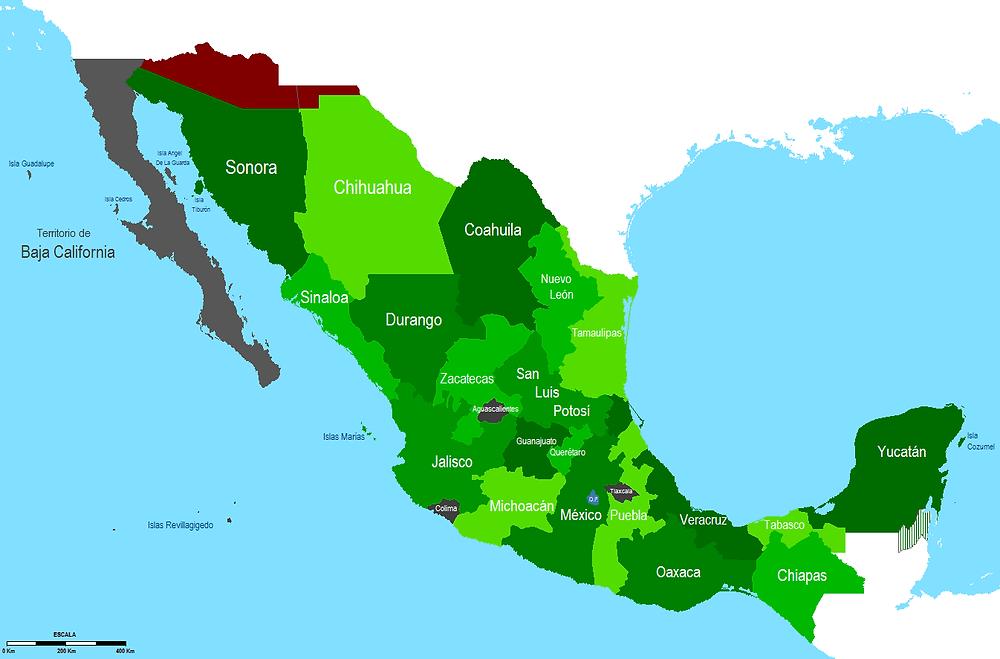 Mapa de México 1853