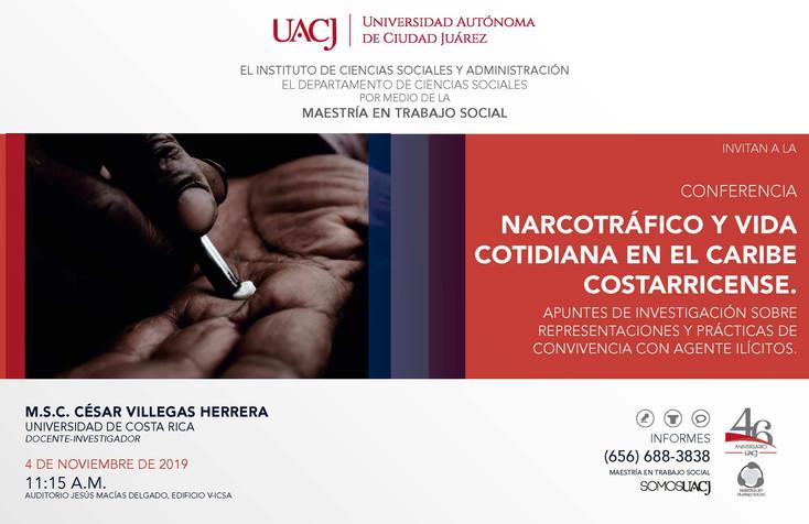 Ofrecen conferencia sobre narcotráfico y vida cotidiana en el Caribe Costarricense