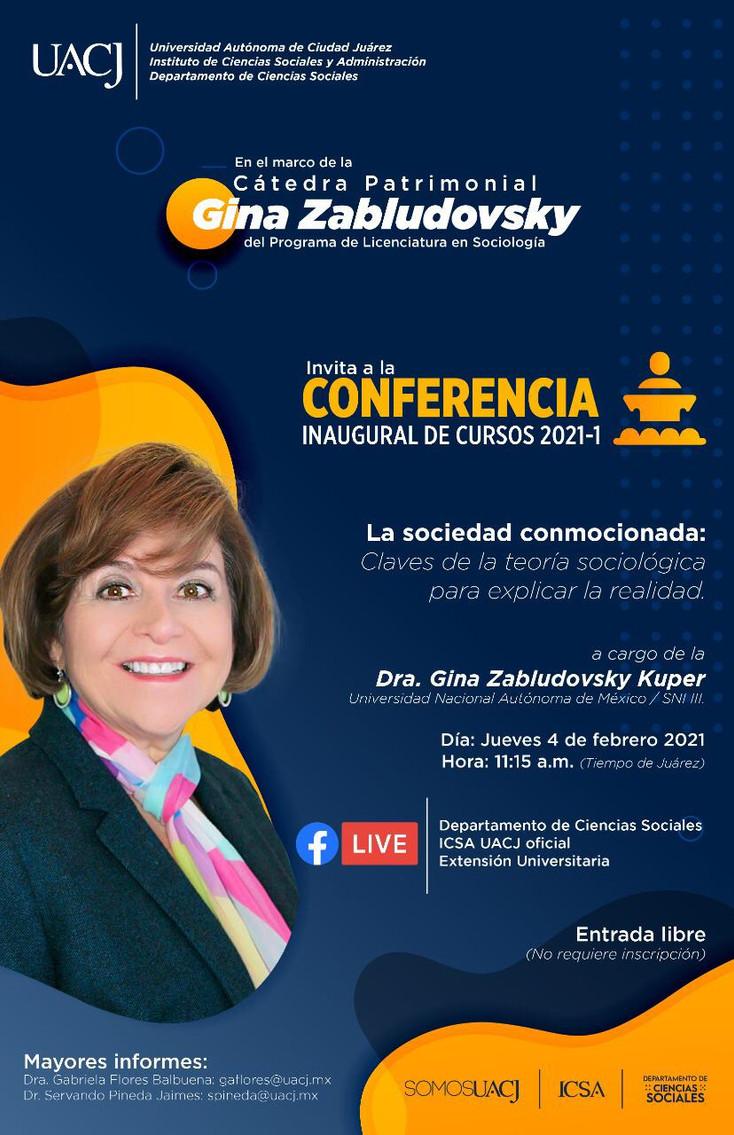 Invitan a la Cátedra Patrimonial Gina Zabludovsky Kuper