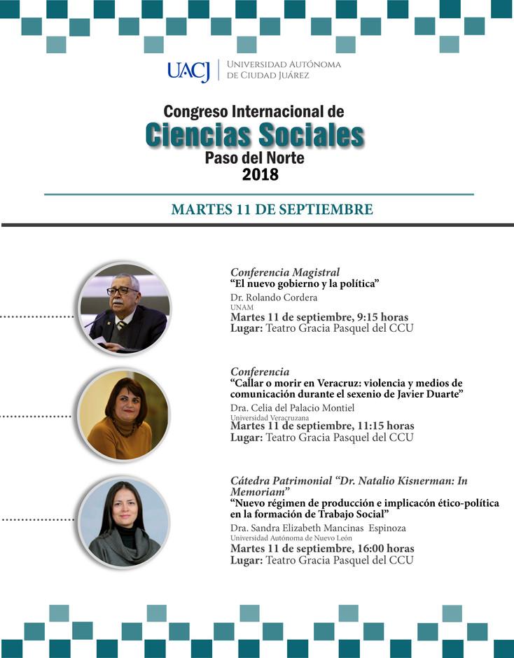 """Segunda jornada del Congreso Internacional de Ciencias Sociales """"Paso del Norte"""""""