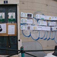 Exposições pelas paredes do bairro..