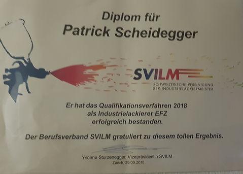 Metallspritzwerk, SVILM Diplom