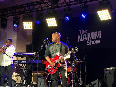 TY playing at the Namm Show Jazz in the City