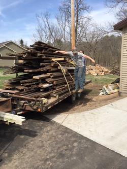 Trailer Haul of Deconstructed Lumber