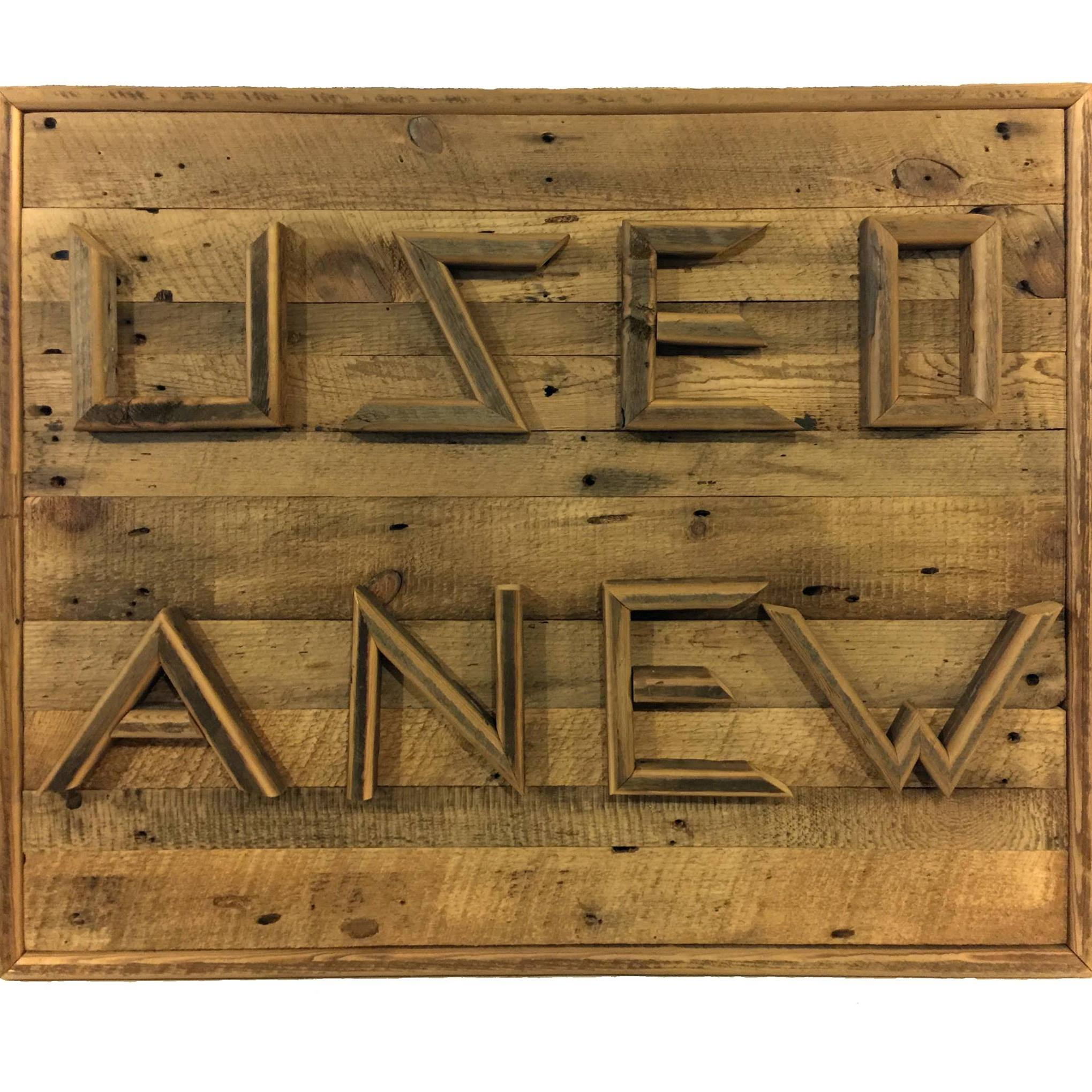Wood Used Anew Sign